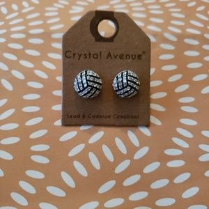 Crystal Avenue Volleyball Pave Earring